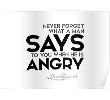 says to you when he is angry - henry ward beecher Poster