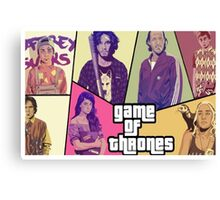 "Games of thrones ""GTA"" Canvas Print"
