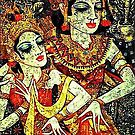 Bali Couple Traditional Dancing Retro Vintage by sastrod8