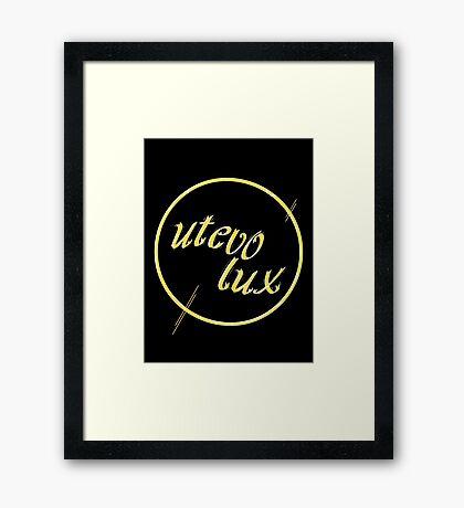 Tibia: utevo lux Framed Print