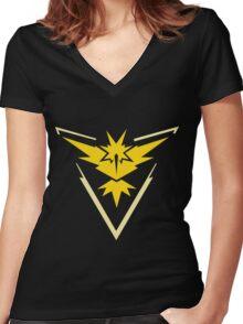 PokemonGo Blue Instinct Team Women's Fitted V-Neck T-Shirt