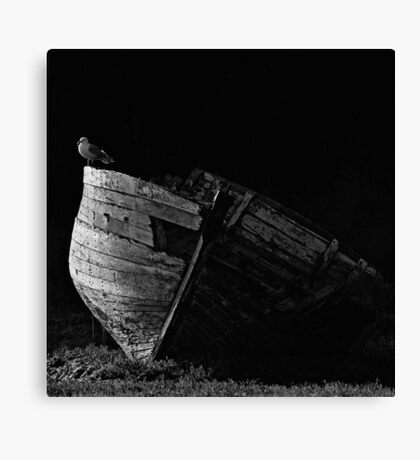 La vieille barque Canvas Print