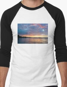 Just Before Sunrise - Toronto's Skyline Under Spectacular Clouds Men's Baseball ¾ T-Shirt
