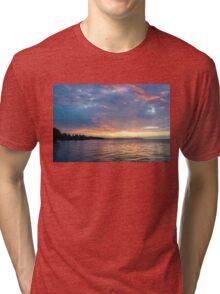 Just Before Sunrise - Toronto Skyline Under Spectacular Clouds Tri-blend T-Shirt