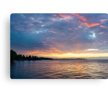 Just Before Sunrise - Toronto Skyline Under Spectacular Clouds Canvas Print