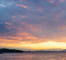 Just Before Sunrise - Toronto's Skyline Under Spectacular Clouds Sticker
