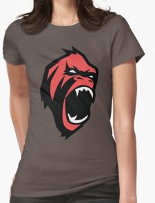 Mad gorilla animal in Red Womens Fitted T-Shirt