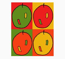 Pop art style four apples in red, green, orange and yellow Unisex T-Shirt