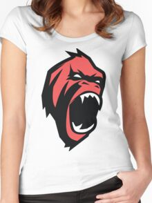 Deadly mean and mad Animal Monkey Women's Fitted Scoop T-Shirt