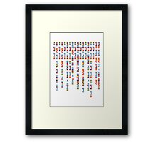 In the Navy - Navy Alphabet - Navy Signal Flags Framed Print