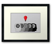 Idea and Solution concept Framed Print