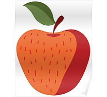 Beautiful Apple Painting Poster