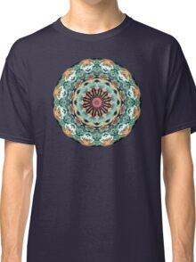 Ornate Orange And Green Abstract Classic T-Shirt