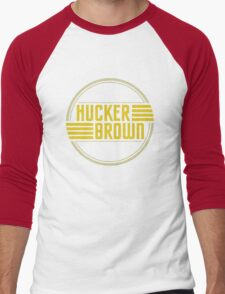Hucker Brown - retro yellow logo Men's Baseball ¾ T-Shirt