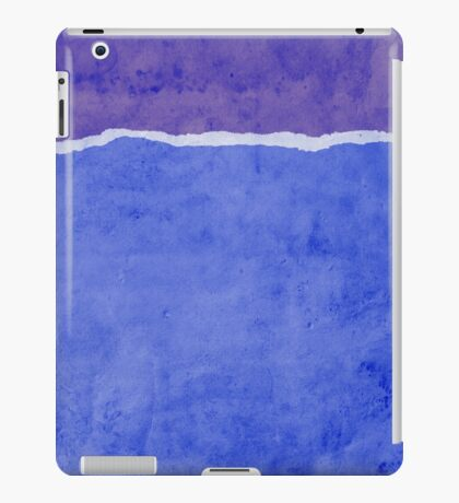 Dirty blue ripped paper iPad Case/Skin