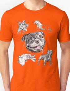 Mixed Media - Staffordshire Bull Terriers Unisex T-Shirt