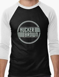 Hucker Brown - retro blue logo Men's Baseball ¾ T-Shirt