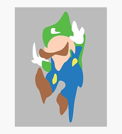 Melting Luigi Photographic Print