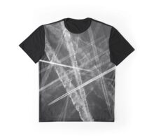 Jet vapour trails in a dark sky Graphic T-Shirt