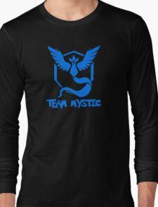 Pokemon GO: Team Mystic (Blue) - Text Long Sleeve T-Shirt