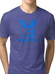 Pokemon GO: Team Mystic (Blue) - Text Tri-blend T-Shirt