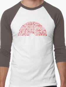 Pokemon Go Silhouette Montage  Men's Baseball ¾ T-Shirt