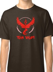 Pokemon GO: Team Valor (Red) - Text Classic T-Shirt