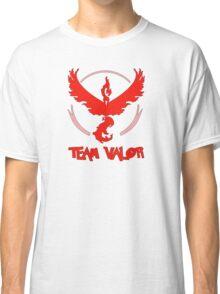 Pokemon GO: Team Valor (Red) - Text Classic T-Shirt