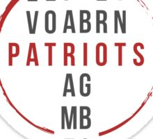 The Patriots Sticker
