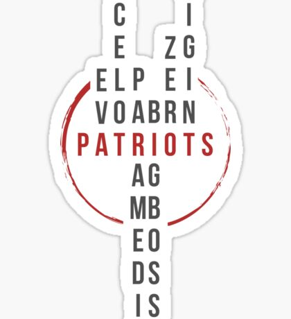 The Patriots Sticker