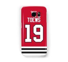 Chicago Blackhawks Jonathan Toews Jersey Back Phone Case Samsung Galaxy Case/Skin