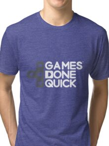 Games Done Quick (GDQ) Tri-blend T-Shirt