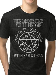 SAFE IN THE SALT CIRCLE WITH SAM AND DEAN  Tri-blend T-Shirt