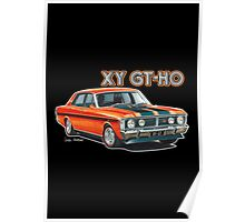 XY GT HO Ford Falcon HO Design Poster