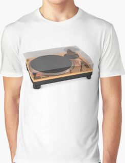 Golden Turntable Graphic T-Shirt