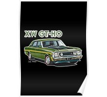 XW GT HO Ford Falcon in reef green Poster