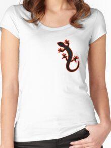 Gecko schwarz rot Women's Fitted Scoop T-Shirt