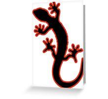 Gecko schwarz rot Greeting Card