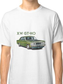 XW GT HO Ford Falcon in reef green Classic T-Shirt