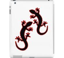 Zwei Geckos schwarz rot iPad Case/Skin