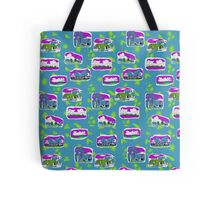Gove Hawaiian design - blue back ground Tote Bag
