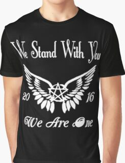 SUPERNATURAL WE STAND WITH YOU 2016 WE ARE ONE Graphic T-Shirt