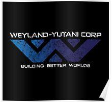 Weyland Yutani - Distressed Gradient Logo Poster