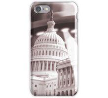 UFO Over Capital (Sepia) iPhone Case/Skin