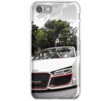 Audi white car iPhone Case/Skin