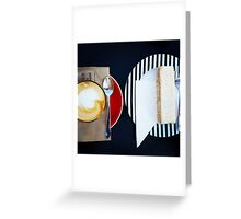 Comfort Food: Coffee & Slice Greeting Card