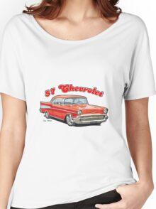 1957 Chevrolet Bel Air Design Women's Relaxed Fit T-Shirt