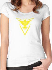 Pokemon GO: Team Instinct - Clean (Yellow Team) Women's Fitted Scoop T-Shirt