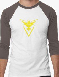 Pokemon GO: Team Instinct - Clean (Yellow Team) Men's Baseball ¾ T-Shirt