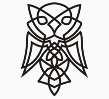 Knotted Owl (black) by RedTideCreative